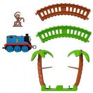 Set de joaca Thomas and Friends - Circuit Monkey Trouble Track Master Push Along cu trenulet Thomas
