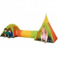 Set doua corturi pentru copii cu un tunel iPlay