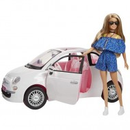 Set masina Fiat 500 si papusa Barbie
