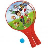 Set rachete tenis din plastic cu minge Patrula Catelusilor
