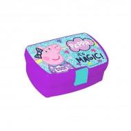 Cutie de pranz mov Peppa Pig