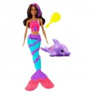 Papusa Barbie sirena Teresa cu delfin