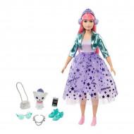 Barbie Princess Adventure - Papusa Daisy cu parul roz si pisicuta