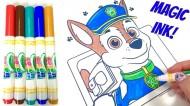 Carte de colorat Patrula Catelusilor cu carioci magice Mess Free Crayola