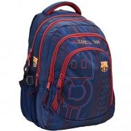 Ghiozdan de scoala FC Barcelona 4 buzunare 45 cm
