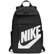 Ghiozdan rucsac Nike Elemental negru cu scris alb, cu 4 compartimente