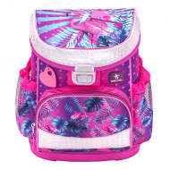 Ghiozdan scoala Belmil Mini Fit - Flamingo Tropical