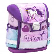 Ghiozdan scoala echipat Belmil Classy - Unicorn mov