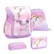 Ghiozdan scoala echipat Belmil Customize me - Unicorn Curcubeu