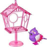 Jucarie interactiva Little Live Pets Lil' Bird - Micuta pasare Pretty Posh cu colivie
