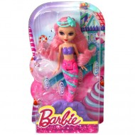 Mini Papusa Barbie Sirena Roz