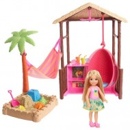 Papusa Chelsea blonda si casuta tropicala - Barbie Dreamhouse Adventures