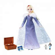 Papusa Elsa Holiday Singing cu cadouri Frozen
