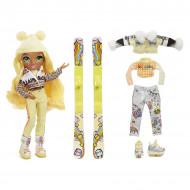 Papusa Rainbow High cu accesorii de iarna Sunny Madison