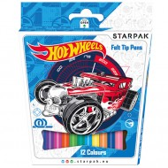 Set 12 Carioci Colorate Starpak Hot Wheels