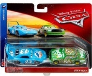 "Set 2 Masinute Strip Weathers Aka ""The King"" & Chick Hicks Disney Cars"