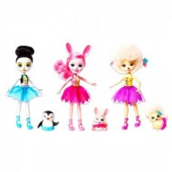 Set 3 papusi balerine: Bree Bunny, Lorna Lamb si Preena Penguin EnchanTimals