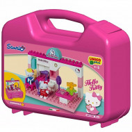 Set de cuburi in cutie de transport Salon de infrumusetare Hello Kitty Unico