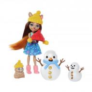 Set de joaca Enchantimals Sharlotte Squirrel si Walnut