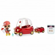 Set de joaca LOL Surprise Furniture Masina Cozy Coupe cu papusa M.C. Swag Seria 1