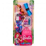 Set de joaca papusa Barbie cu accesorii de Fitness