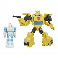 Set figurine transformabile Transformers Buzzworthy Bumblebee War for Cybertron - Bumblebee si Spike Witwicky