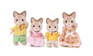 Set de joaca familia pisicutelor Striped Sylvanian Families