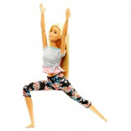 Papusa Barbie Made To Move flexibila Yoga blonda - Complet Articulata