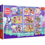 Puzzle Enchantimals 10 in 1 - 20, 35 si 48 piese