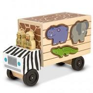 Camionul cu Animale din lemn Melissa&Doug