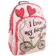 Ghiozdan ergonomic I Love My Bicycle Energy Must, 45 cm