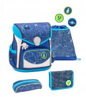 Ghiozdan scoala echipat Belmil Cool Bag - Invazia geometrica