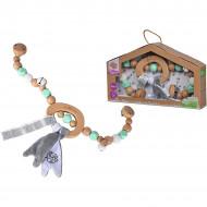 Jucarie pentru dentitie accesoriu carucior Simba Toys Eichhorn Baby Pure
