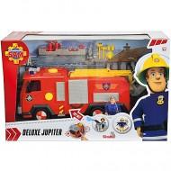 Masina de Pompieri Deluxe Jupiter cu 2 figurine Sam Pompierul