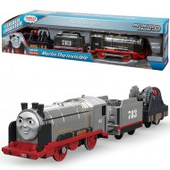 Merlin The Invisible Trenulet Locomotiva Motorizata cu doua vagoan Thomas&Friends Track Master