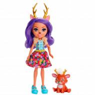 Papusa Danessa Deer si figurina Sprint EnchanTimals