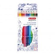 Set 12 creioane colorate Herlitz