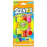 Set 12 creioane colorate parfumate Scentos