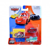 Set 3 masinute metalice Fulger McQueen, Flo, Ramone Mini Racers Disney Cars