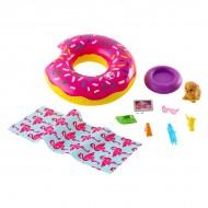 Set accesorii pentru petrecerea la piscina Barbie
