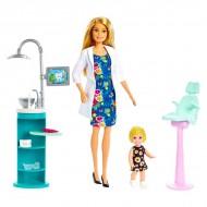 Set de joacă - Papusa Barbie stomatolog cu fetita si accesorii