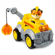 Set Rubble si Super Buldozerul cu sunete si lumini Paw Patrol Mighty Pups - Patrula Catelusilor
