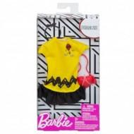 Set haine Barbie - Rochie Galben cu Negru Peanuts