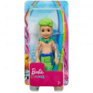 Papusa Barbie Chelsea Dreamtopia baiat sirena verde