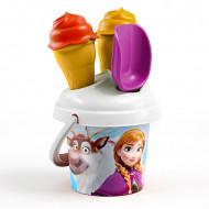 Set de nisip cu galetusa si cornete de inghetata Frozen
