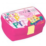Cutie de pranz roz Happy Peppa Pig
