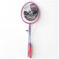 Set de badminton roz Vektory
