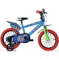 """Bicicleta pentru copii cu roti ajutatoare 14""""Eroi in Pijama"""