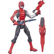 Figurina Power Ranger cu accesorii - Red Ranger 15 cm