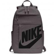 Ghiozdan rucsac Nike Elemental gri cu scris negru, cu 4 compartimente